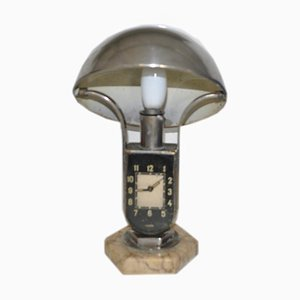 Hungarian Clock Table Lamp from Mofem, 1930s