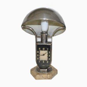 Hungarian Clock Table Lamp from Mofem, 1930s