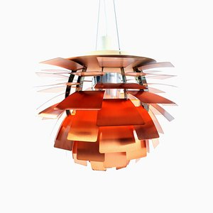 Lámpara de techo Mid-Century de cobre de Poul Henningsen para Louis Poulsen, años 50