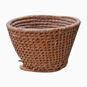 French Wicker Basket, 1940s