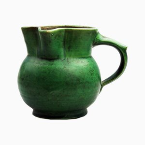 Vintage British Art Pottery Jug by William Baron for Barnstable, 1878