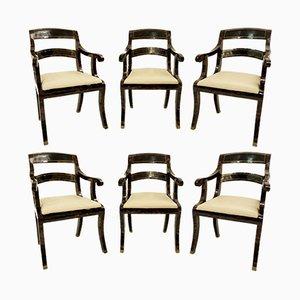 Vintage Armlehnstühle von Maitland-Smith, 6er Set