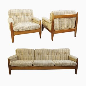 Vintage Sofa and Armchair Set from Sergio Rodriguez, Set of 3