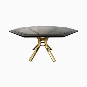 Black Lacquered Octagonal Dining Table by Pierre Cardin, 1980s