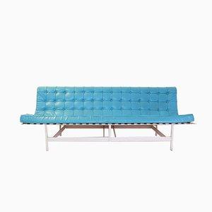 Vintage Sofa mit Metallgestell & Bezug aus Kunstleder von Douglas Kelly für Ross Littell & William Katavolos