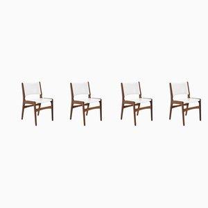 Chaises de Salon Vintage en Teck, Danemark, années 60, Set de 4