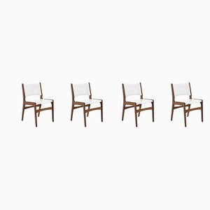 Vintage Danish Teak Dining Chairs, 1960s, Set of 4