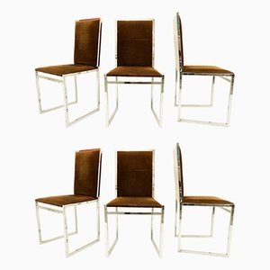 Mid-Century Italian Side Chairs from La Metal Arredo, Set of 6