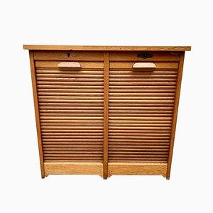 Vintage Oak Veneer D219 Filing Cabinet, 1950s