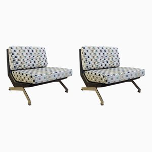 Vintage Italian Armchairs by Giulio Moscatelli for Forma Nova, 1960s, Set of 2