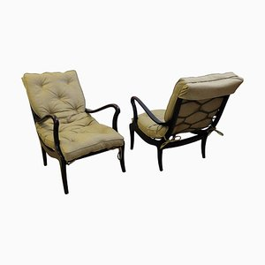 Mid-Century Lounge Chairs by Ezio Longhi, 1950s, Set of 2
