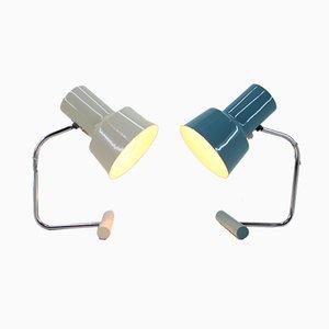 Lámparas de mesa de Josef Hurka para Napako, años 70. Juego de 2