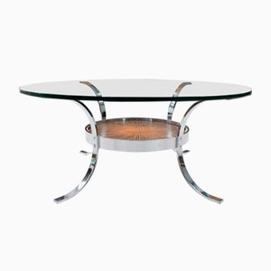 Chrome and Copper Coffee Table from Kondor, 1960s