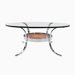 Tavolino da caffè in rame e metallo cromato di Kondor, anni '60