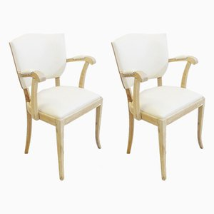 Vintage Armchairs by Maison Charles for Duyver Bridge Armchairs, Set of 2