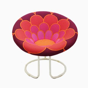 Vintage Flower Power Round Armchair