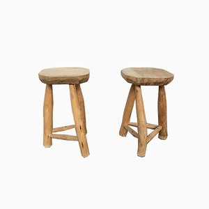 Rustic Stools, 1950s, Set of 2