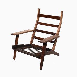 Mid-Century High-Back Lounge Chair by Hans J. Wegner for Getama, 1960s