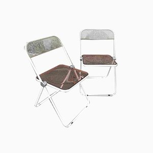 Plia Folding Chairs by Giancarlo Piretti for Castelli / Anonima Castelli, 1972, Set of 2
