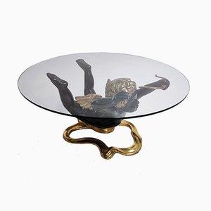 Tavolino da caffè Cupid in bronzo, anni '70