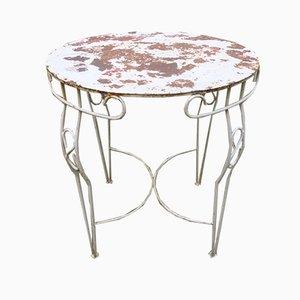 Tavolo da giardino Mid-Century in metallo, anni '50