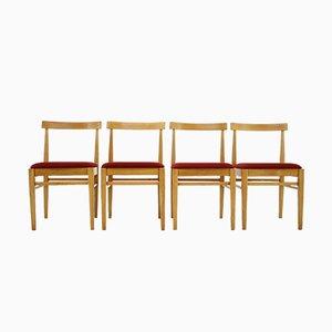 Chaises de Salon de Thon, années 70, Set de 4