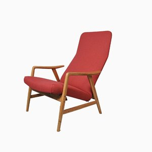 Red Lounge Chair by Alf Svensson for Fritz Hansen, 1959