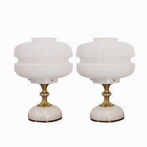 Lámparas de mesa de Napako, años 70. Juego de 2