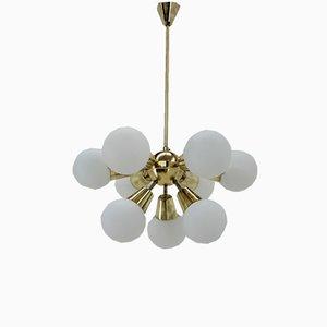 Lámpara de araña Sputnik de Kamenický Šenov, años 60