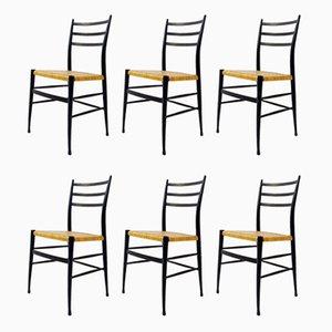 Chaises de Salon Spinetto Vintage de Chiavari, Set de 6