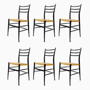 Vintage Spinetto Dining Chairs from Chiavari, Set of 6