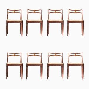 Dänische Modell 94 Esszimmerstühle mit Gestell aus Palisander von Johannes Andersen für Christian Linneberg, 1960er, 8er Set
