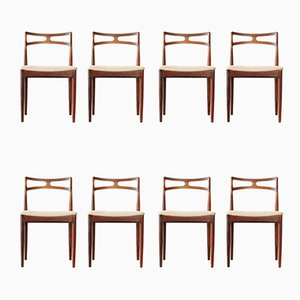 Danish Model 94 Rosewood Dining Chairs by Johannes Andersen for Christian Linneberg, 1960s, Set of 8