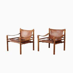Schwedische Safari Stühle aus Palisander von Arne Norell für Arne Norell AB, 1970er, 2er Set