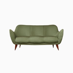 Italian Green Perla Sofa by Giulia Veronesi for ISA Bergamo, 1950s