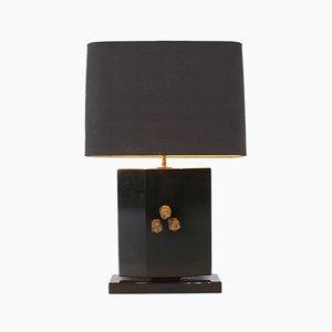 Lampada da tavolo in bronzo, anni '70