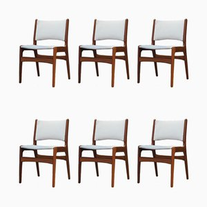 Vintage Rosewood Dining Chairs by Henning Kjaernulf, Set of 6