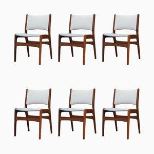 Vintage Teak Dining Chairs by Henning Kjaernulf, Set of 6