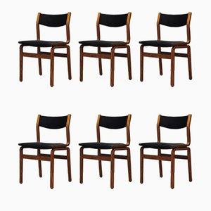 Chaises de Salon Vintage en Palissandre, Danemark, Set de 6