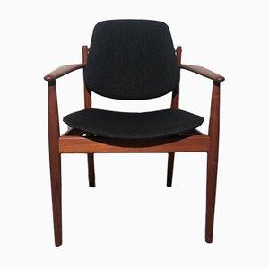 Dänischer Modell 208 Armlehnstuhl aus Teak von Arne Vodder für France & Søn / France & Daverkosen, 1950er