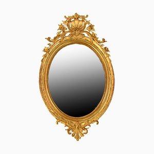 Antiker französischer Spiegel mit vergoldetem Rahmen