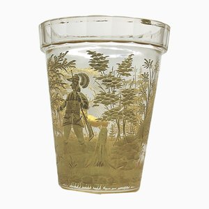 Antique Swiss Gilded Glass Beaker