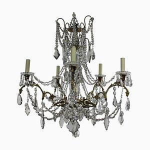 Lámpara de araña francesa antigua de Baccarat, década de 1880