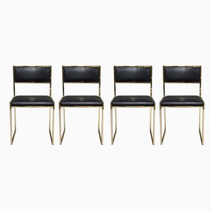 Italian Dining Chairs by Willy Rizzo for Mario Sabot, 1970s, Set of 4
