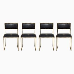 Italienische Esszimmerstühle von Willy Rizzo für Mario Sabot, 1970er, 4er Set