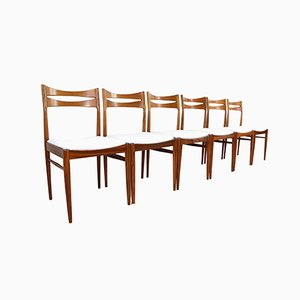 Mid-Century Esszimmerstühle aus Palisander, 6er Set