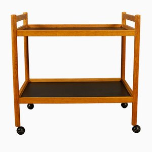Vintage Danish Oak Trolley, 1960s