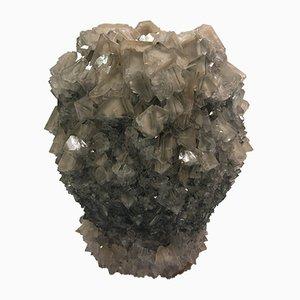 Große braune Kristallvase von Isaac Monté