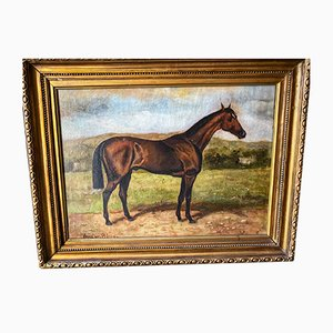 Antique Horse Oil Painting by August Von Blaas
