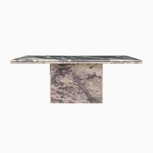 Mesa de centro danesa vintage de mármol